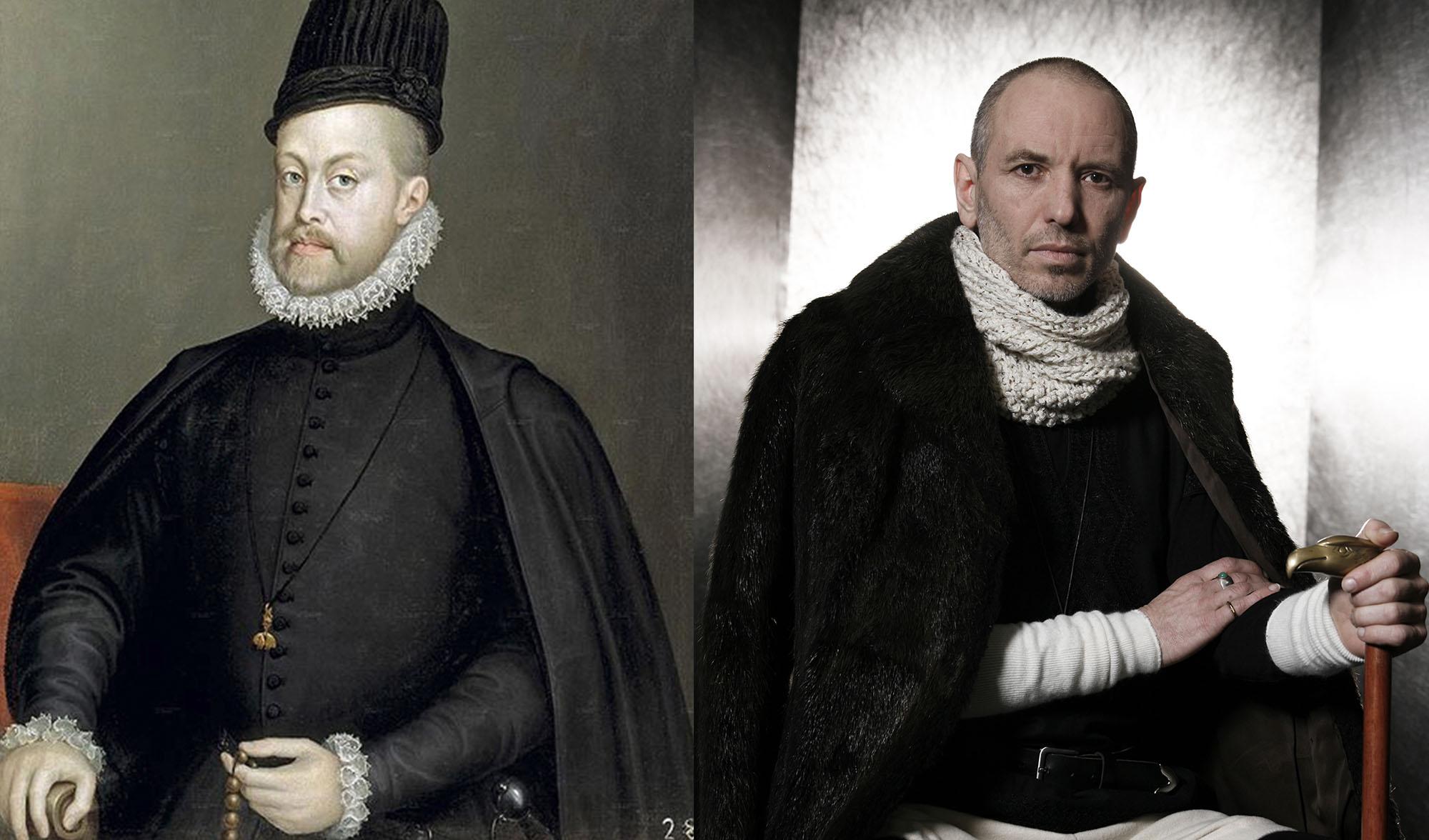 Sanchez Coello MoenchsKoenig Philipp II. von Spanien1 a